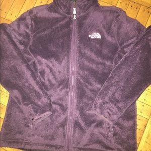 The north face fleece sweater purple women's large